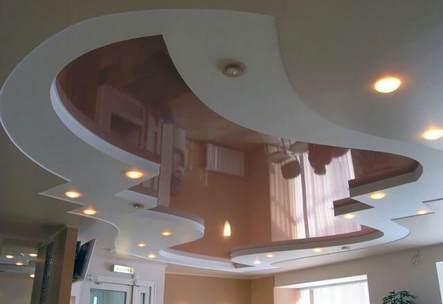 монтаж точечных светильников в натяжной потолок