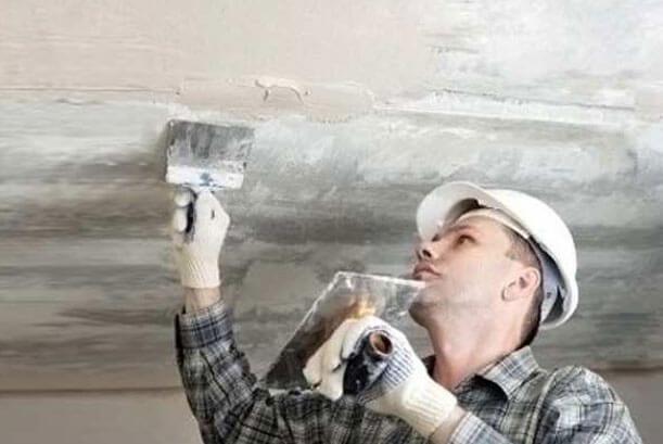 обработка потолка перед покраской водоэмульсионной краской
