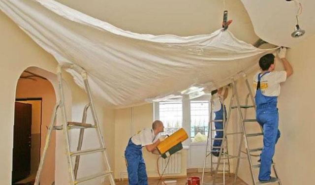 как самому натянуть натяжные потолки