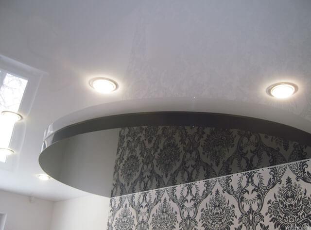 натяжной потолок двухуровневый конструкция