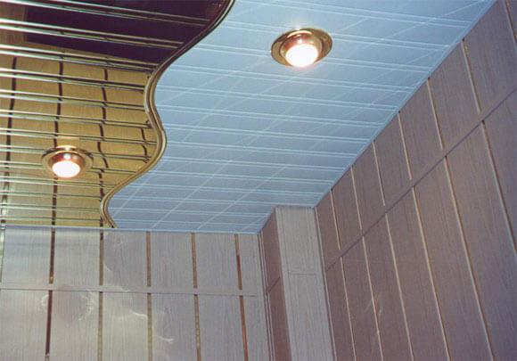 реечный потолок без вставок