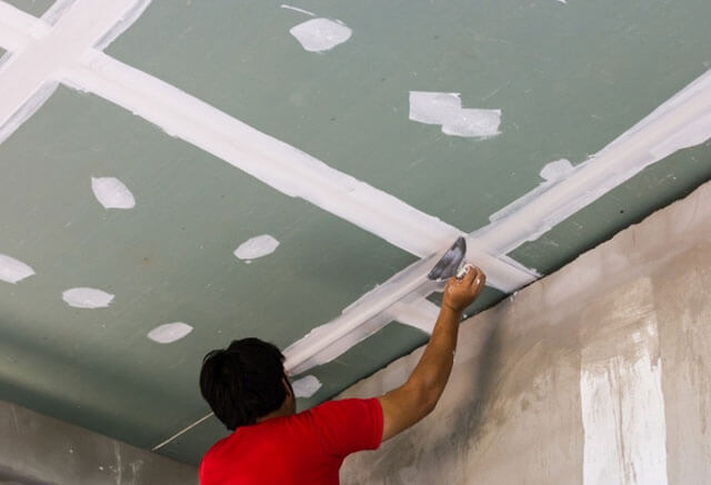 обычный потолок из гипсокартона