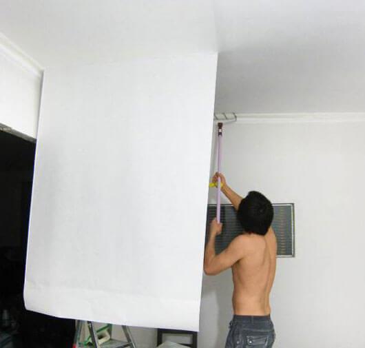 как приклеить обои на потолок инструкция