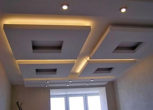 парящий подвесной потолок