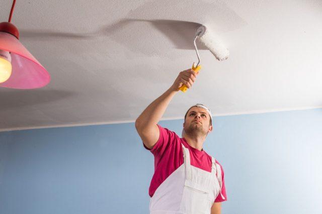 Пятна на потолке после покраски