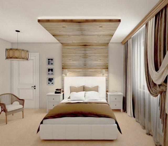 Двухуровневый вариант в спальне