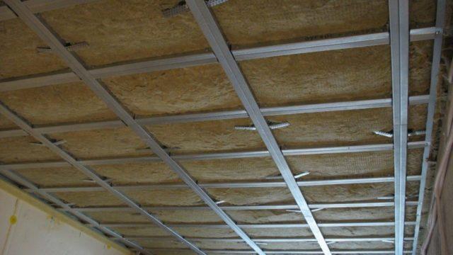 Минеральная вата под натяжной потолок