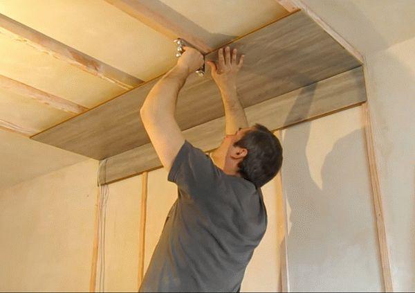 Монтаж ламината на деревянный каркас