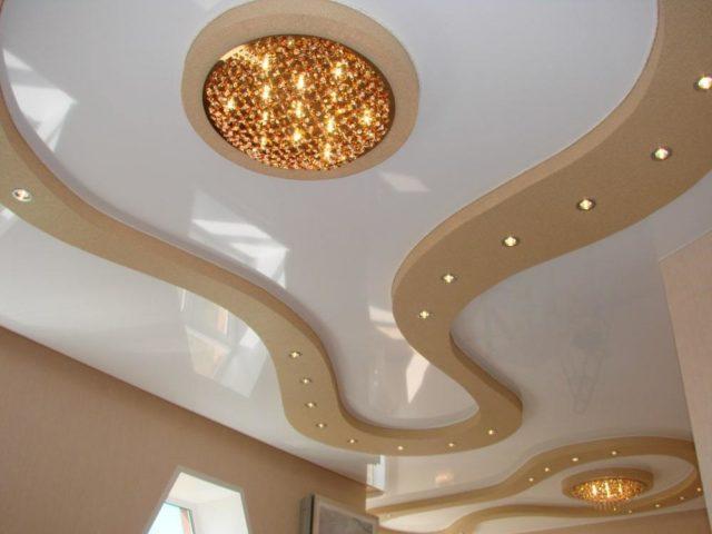 Освещение на многоуровневом потолке