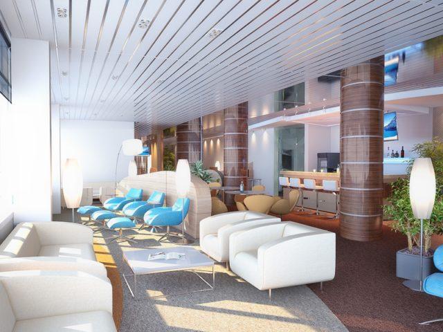 Реечный потолок в гостиной
