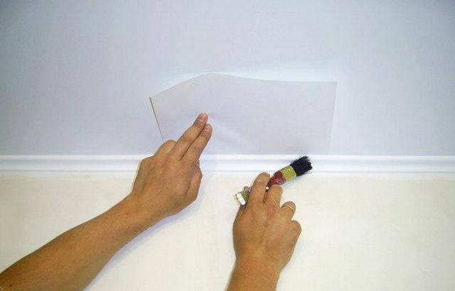 Защита потолка бумагой