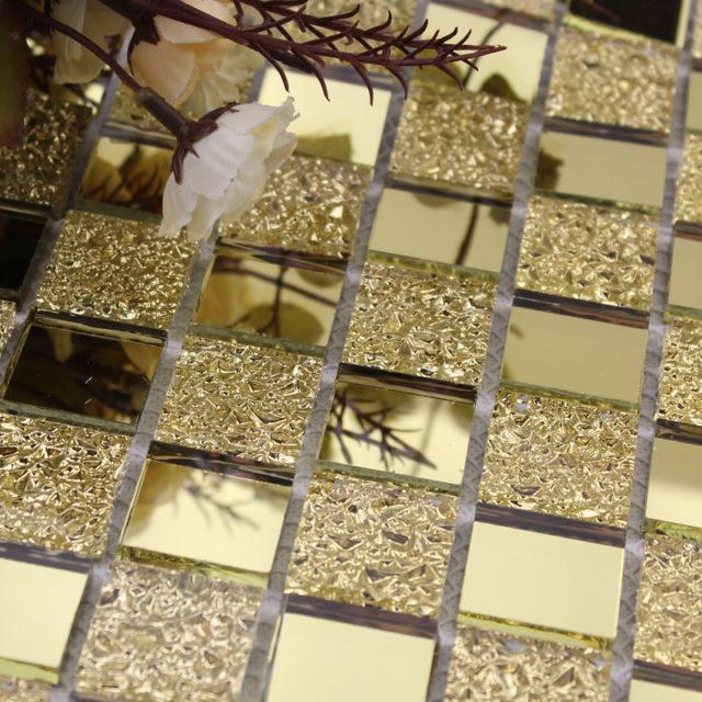 Зеркальная мозаика под золото