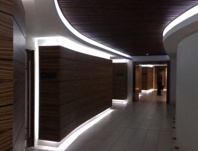 багет для светодиодной ленты натяжной потолок
