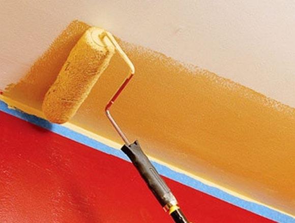 как правильно покрасить потолочную плитку