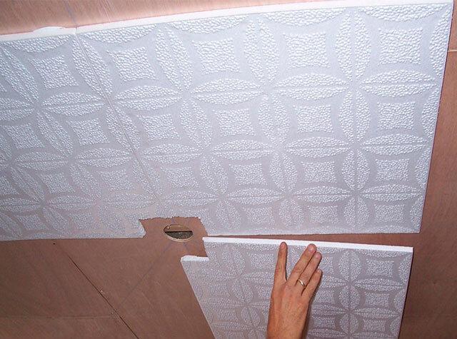 как сделать потолок из пенопласта своими руками