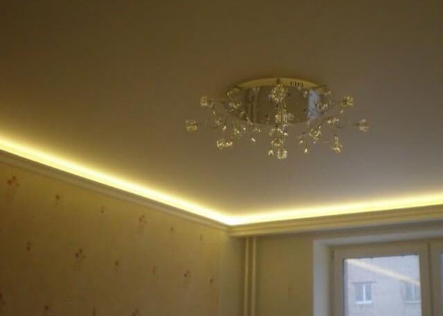 профиль для натяжного потолка со светодиодной подсветкой