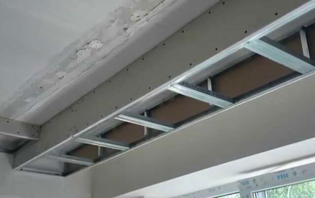 потолок два уровня с подсветкой