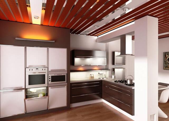 алюминиевый потолок на кухне