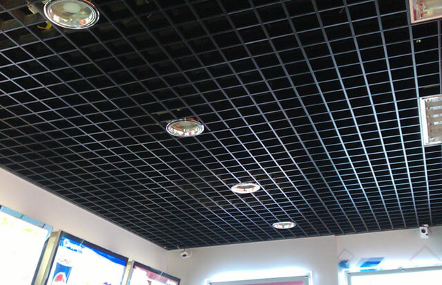 потолок решетка