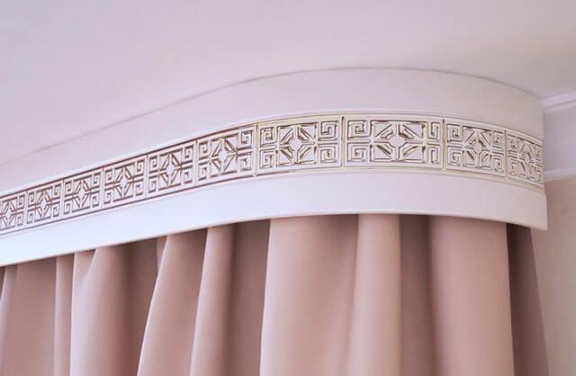 дизайн штор с натяжным потолком
