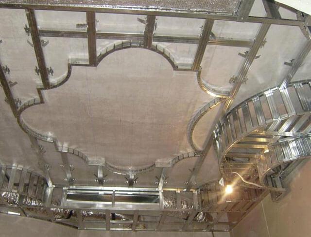 каркас для фигурного потолка из гипсокартона