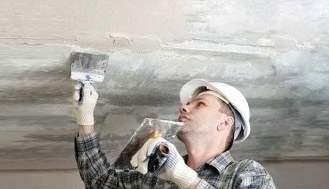 технология шпаклевки потолка под покраску