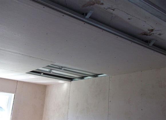 как крепить гипсокартон по периметру потолка