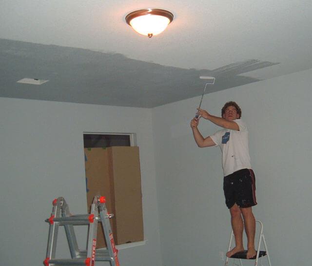 как подготовить потолок