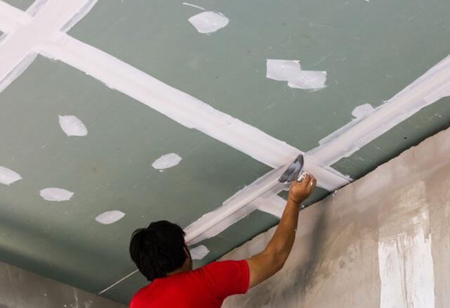 потолок из гкл под покраску