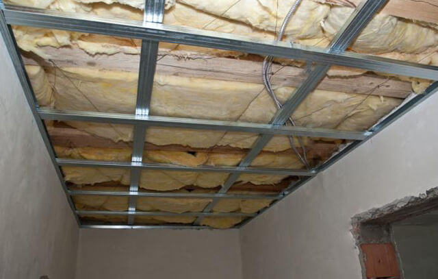 каркас подвесного потолка своими руками