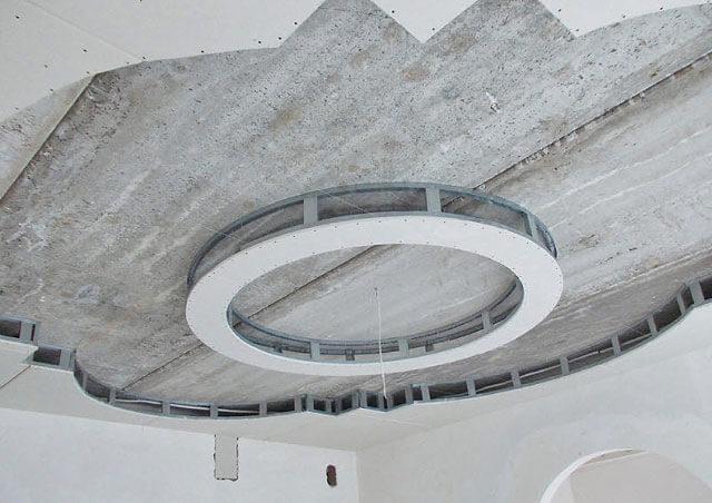 потолок двухуровневый круглый