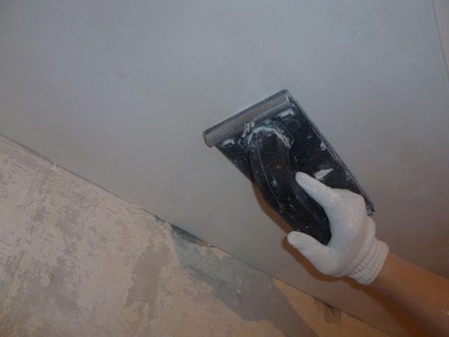 подготовка потолка из гипсокартона под покраску