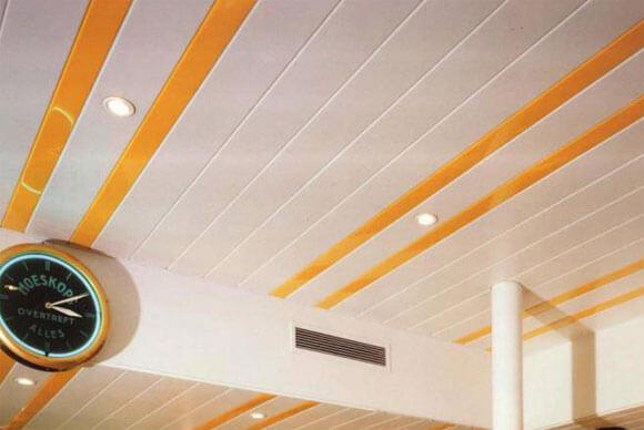 как снять реечный потолок