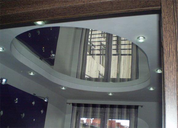 зеркальная пленка на потолок