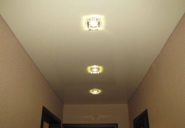 квадратные светильники для натяжного потолка