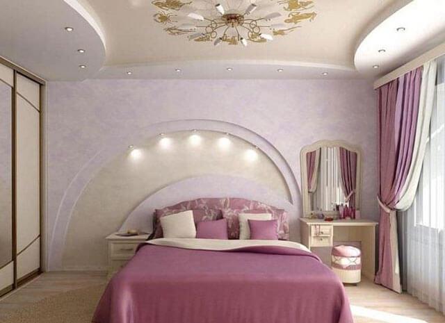 как сделать потолок в спальне своими руками