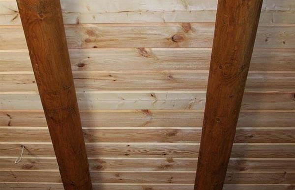 натяжные потолки под дерево фото