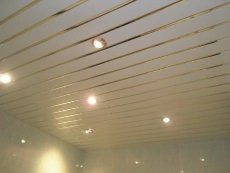потолок из алюминиевых реек