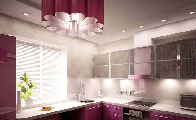 люстра для натяжного потолка на кухню