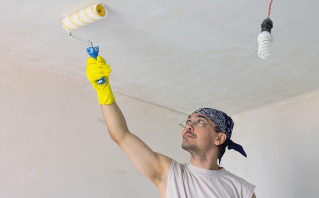 чем грунтовать потолок перед покраской водоэмульсионной краской