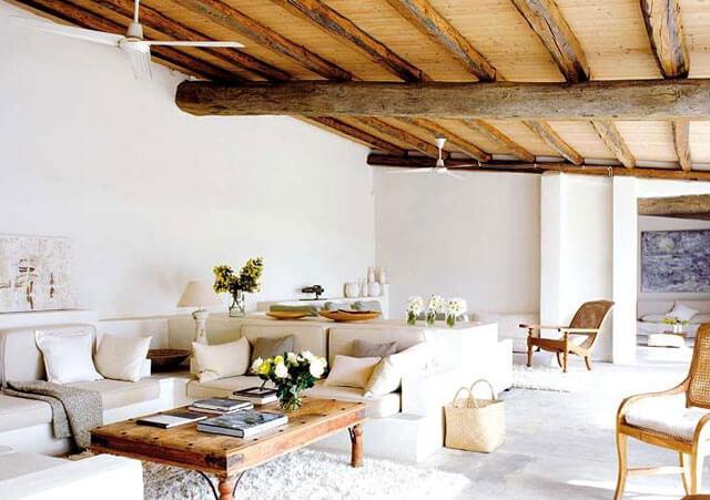 дизайн потолка из дерева