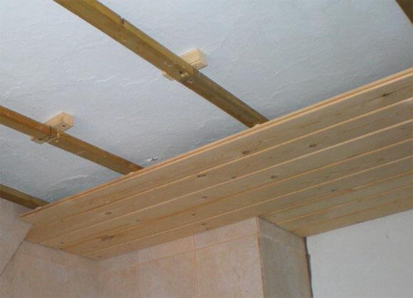 обшить потолок мдф