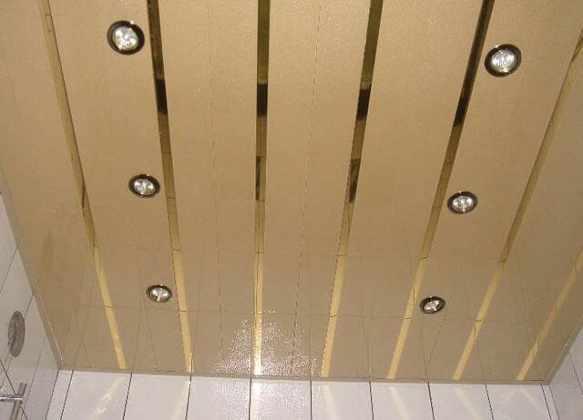 светильники для реечного потолка в ванной