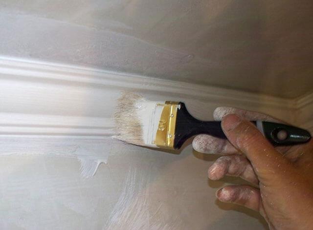краска для потолочных плинтусов
