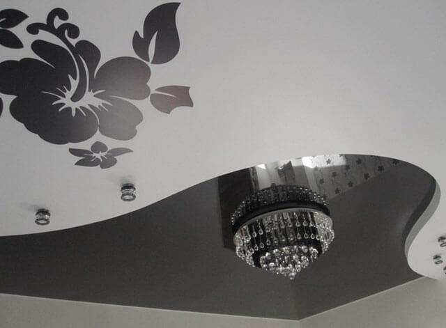 рисунки цветов на потолке