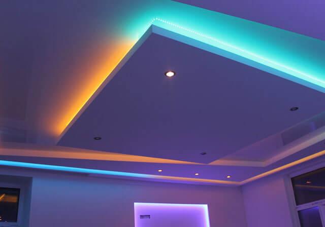 профиль для парящего потолка с подсветкой