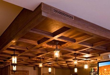 Кессоны под дерево на потолке
