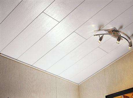 Отделка потолка плитами МДФ