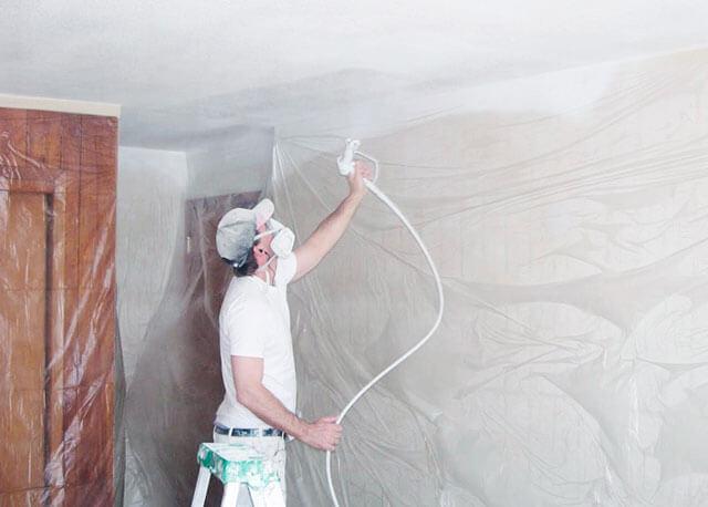 ремонт побелки потолка