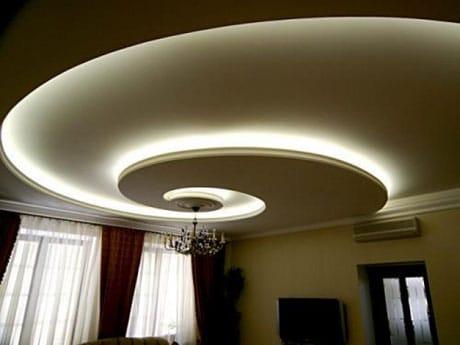 Спиралевидный подвесной потолок